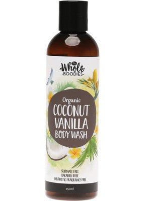 The Whole Boodies Coconut Vanilla Body Wash (250ml)