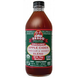 Bragg Apple Cider Vinegar & Honey Unpasteurised & Unfiltered (473ml)