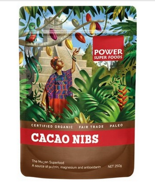 POWER SUPER FOODS Organic Cacao Nibs (250g)