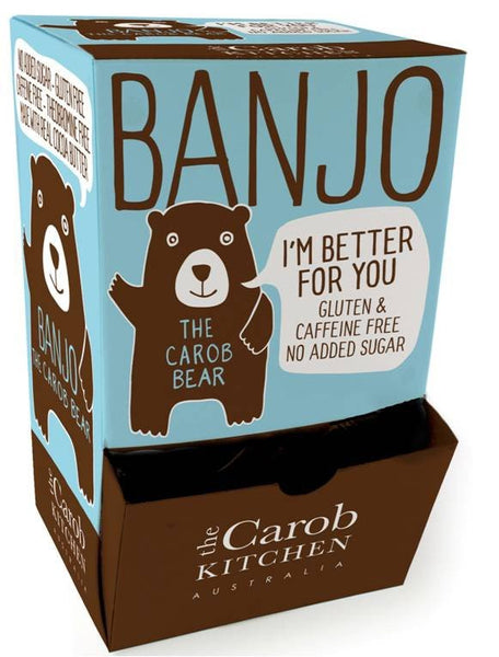 The Carob Kitchen Banjo Bear - Carob (50 x 15g)