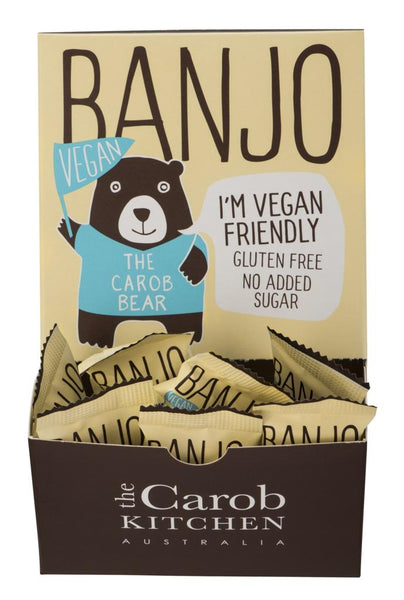 The Carob Kitchen Banjo Bear VEGAN - Carob (50 x 15g)