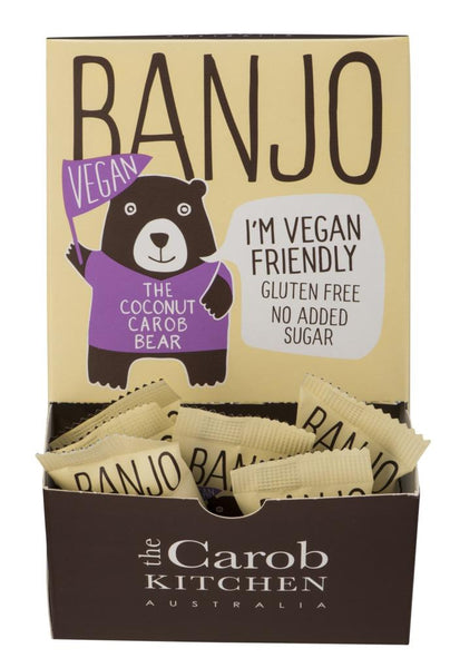 The Carob Kitchen Banjo Bear VEGAN - Coconut (50 x 15g)