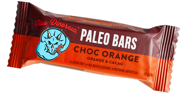 Blue Dinosaur Paleo Bars - Choc Orange (12 x 45g)