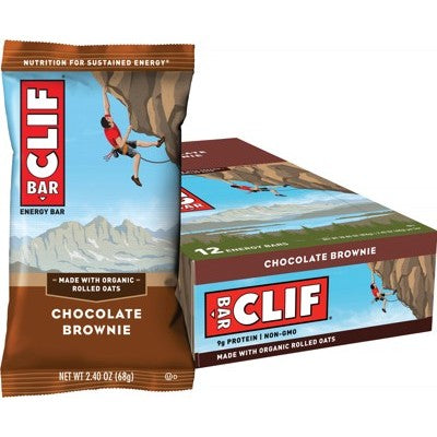 Clif Energy Bar - 12 x Chocolate Brownie (68g)