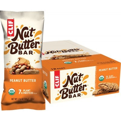 Clif Energy Bar - 12 x Nut Butter Filled Peanut Butter (50g)