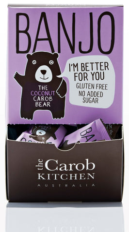 The Carob Kitchen Banjo Bear - Carob Coconut (50 x 15g)