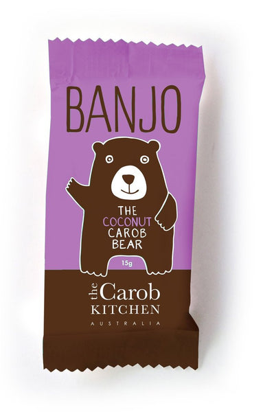 The Carob Kitchen Banjo Bear - Carob Coconut (15g)