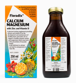 Floradix Calcium Magnesium with Zinc and Vitamin D (500ml)