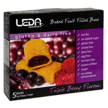 Leda Nutrion Fruit Bar - Triple Berry (5 x 38g)