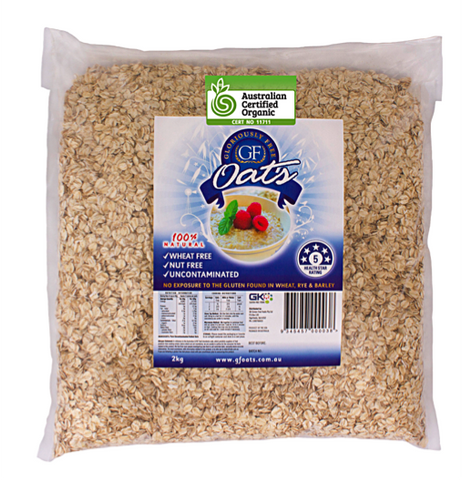 Gloriously Free Uncontaminated Organic Oats (2kg)