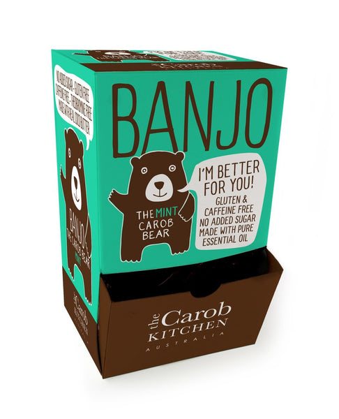 The Carob Kitchen Banjo Bear - Carob Mint (50 x 15g)