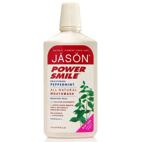 Jason PowerSmile (Peppermint) Mouthwash (473ml)