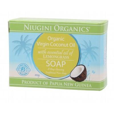 Niugini Organics Virgin Coconut Oil Soap Lemongrass (100g)