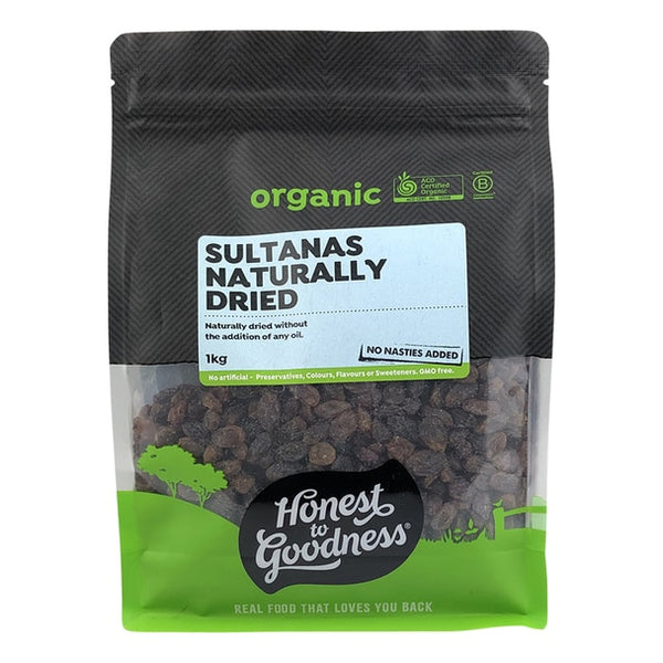 H2G Organic Sultanas - Naturally Dried (1kg)