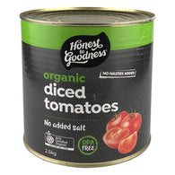 H2G Organic Diced Tomatoes - Cooked (2.5kg)