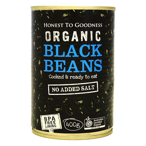 H2G Organic Black Beans - cooked (400g)