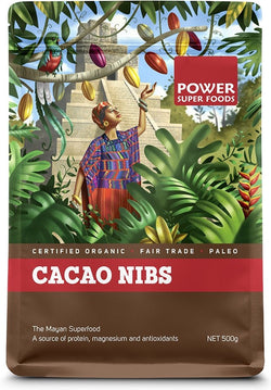 POWER SUPER FOODS Organic Cacao Nibs (500g)