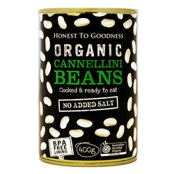 H2G Organic Cannellini Beans - Cooked (400g)