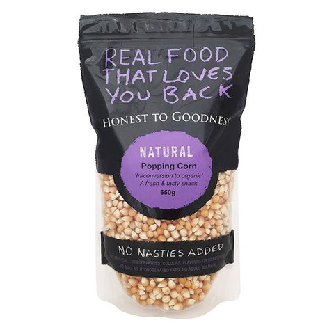 "H2G Organic ""In-conversion"" Popping Corn (650g)"