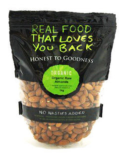 H2G Organic Raw Almonds (1kg)