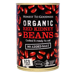 H2G Organic Red Kidney Beans - Cooked (400g)