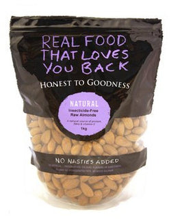 H2G Almonds - Raw (1kg) Insecticide free