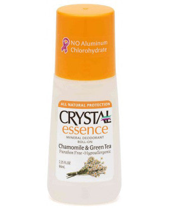 Crystal Roll-On Deodorant Essence Chamomile & Green Tea (66ml)