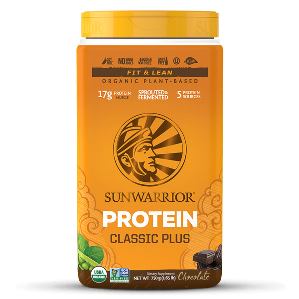 Sunwarrior Classic Plus Organic Chocolate Raw Plant-Based Protein (750g)