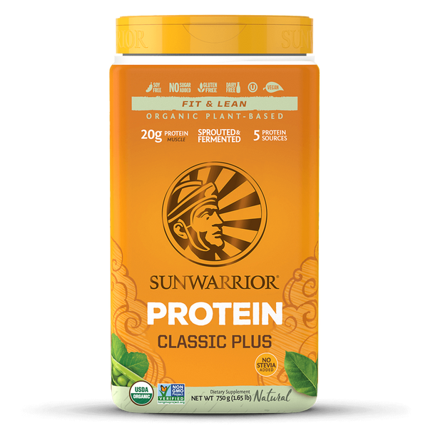 Sunwarrior Classic Plus Organic Natural Raw Plant-Based Protein (750g)