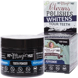 My Magic Mud Whitening Tooth Powder (Peppermint) - Activated Charcoal (30g)