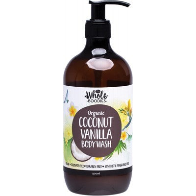 The Whole Boodies Coconut Vanilla Body Wash (500ml)