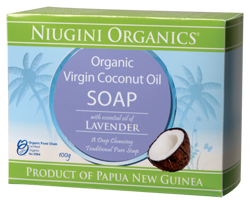 Niugini Organics Virgin Coconut Oil Soap Lavender (100g)