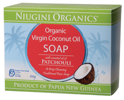 Niugini Organics Virgin Coconut Oil Soap Patchouli (100g)