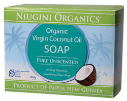 Niugini Organics Virgin Coconut Oil Soap Pure Unscented (100g)