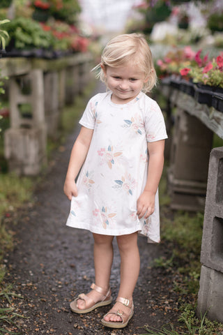 Chalk Floral Tee Shirt dress