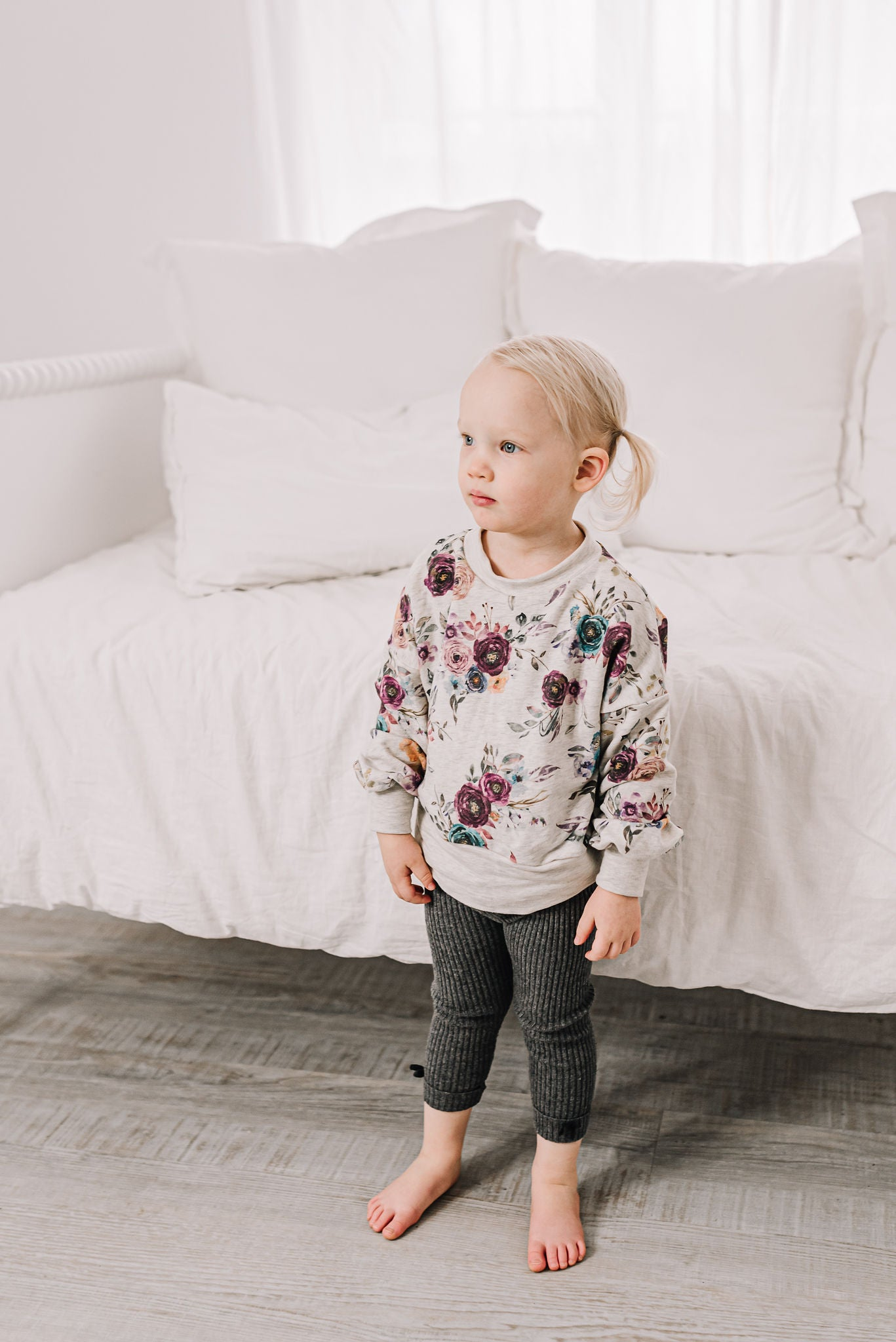 Girl's Floral Sweatshirt