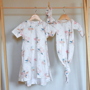 Creamy Floral Big Sister/Tiny Sister set