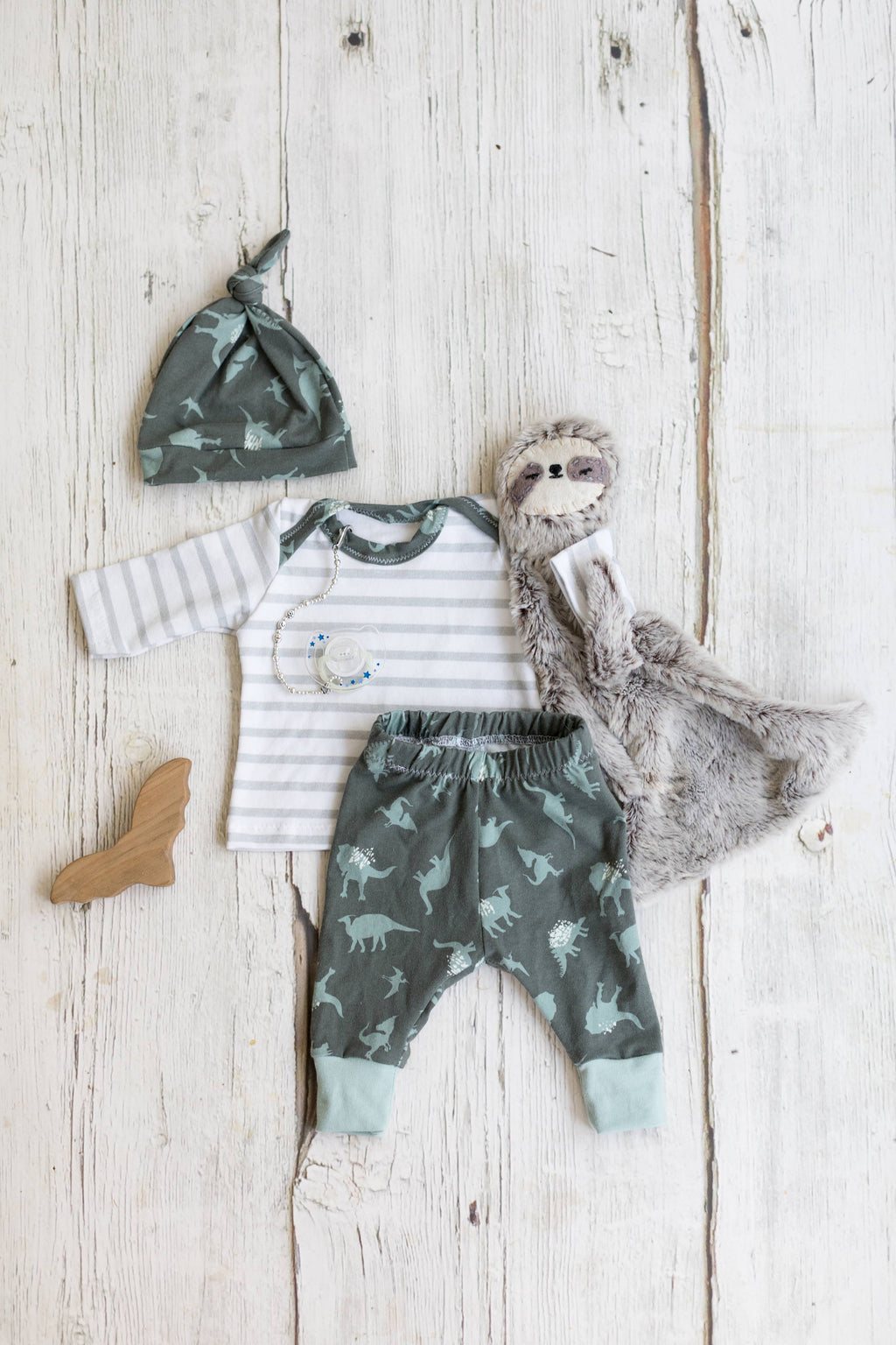 gray stripe with dinosaurs newborn coming home outfit