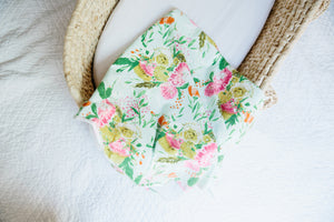 Summer Floral Swaddle Blanket