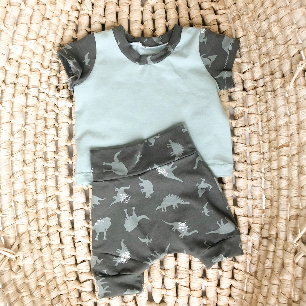 Boy's Dino Summer Outfit