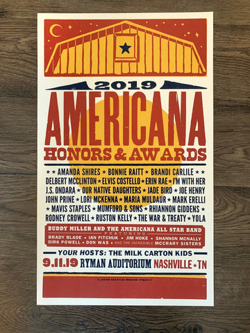 2019 Americana Honors & Awards Poster