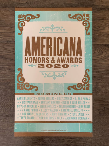 2020 Honors & Awards Poster