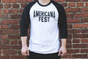 Black & White AMERICANAFEST® Baseball T-Shirt