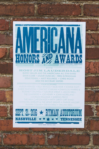 2016 Americana Honors & Awards Poster