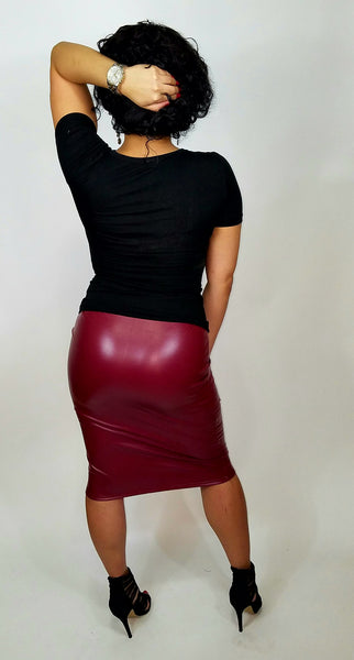 Kassie Leather Skirt - Trendi Fashions Boutique