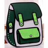 3D Jump Style 2D Drawing Cartoon Paper Bag Comic Backpack - Trendi Fashions Boutique