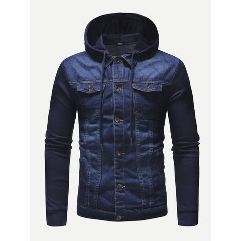Landon Hooded Denim Jacket - Trendi Fashions Boutique