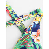 Crisscross Tropical Monokini - Trendi Fashions Boutique