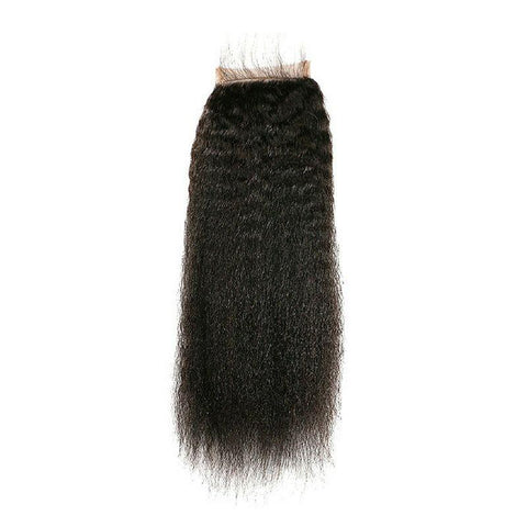 Brazilian Kinky Straight Closure - Trendi Fashions Boutique