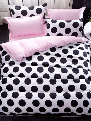 Polka Dot Print Bedding Set